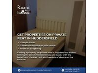 Get properties on private rent in Huddersfield