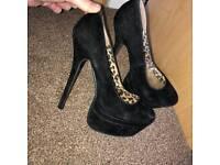 Size 7 Black Suede Heels