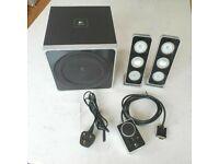 logitech z4 2.1 speaker system subwoofer