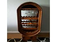 Wooden wine rack mexican