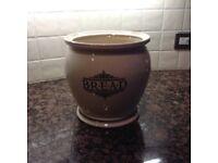 1869 Victorian Pottery Bread Crock/Bin