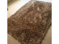 Large chocolate brown Ikea rug. 140 x 200cm