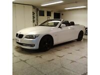 2011 BMW 320D Convertible for sale Pearl White