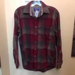 Pendleton 100% Wool Fitted Trail Shirt (8JZ7KN)