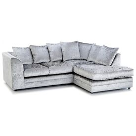 Dylan bella Chicargo Crushed Velvet 3+2 or corner sofa Brand new
