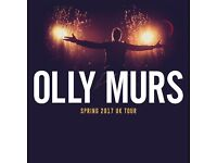 2 x FRONT ROW VIP OLLY MURS TICKETS - UP CLOSE AND PERSONAL - BLOCK A1 ROW A - O2 ARENA