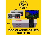 Mini NES Style Console. 500 Games Built-In. 2 Controllers. Brand New. UK Plug