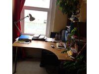 Corner desk ikea galant adjustable hight