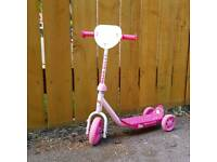 3 wheeled trike style scooter pink