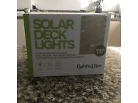 Solar Deck Lights by lights4fun set of 6 2 boxes available