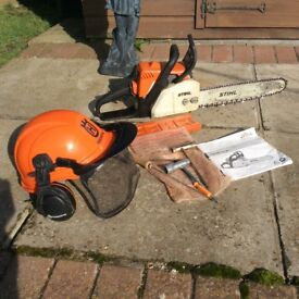 Stihl package, chainsaw, blower, strimmer bush cutter.