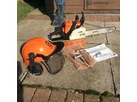 Stihl package, chainsaw, blower, strimmer bush cutter.