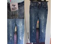 Girls jeans 10-11yrs