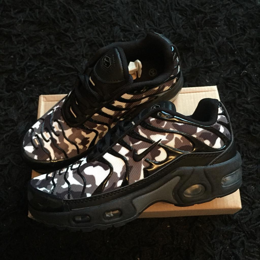 official photos d2672 1c82c Bnib boys Nike air max tn camo trainers size 1 | in High Peak, Derbyshire |  Gumtree