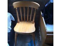 Kitchen chair solid pine