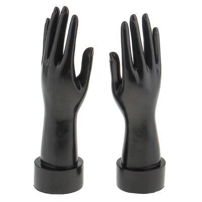 2x Mannequin Hands Arm Display Base Glove Jewelry Window Model Stands -black