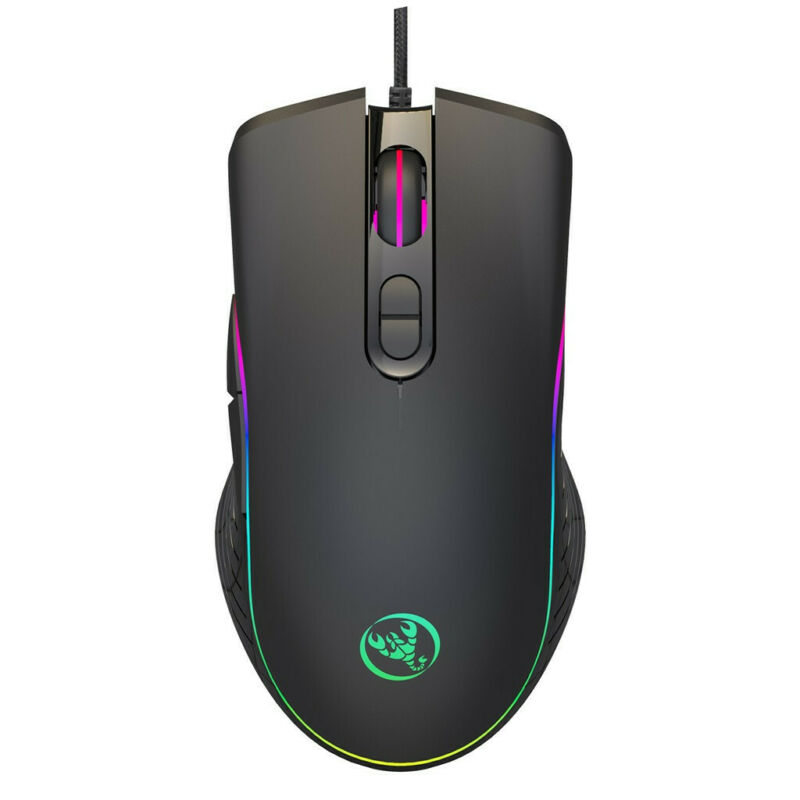 Rainbow Ergonomic Game And Portable Backlight Mouse