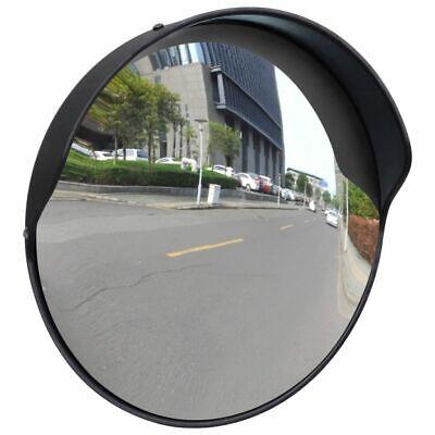 """Convex Traffic Mirror PC Plastic Black 12"""" Outdoor C4L3"""