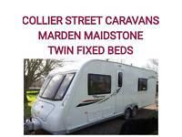 20124 berth elddis odyssey twin fixed single beds + twinaxle caravan