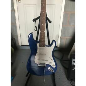 Electric guitar in blue
