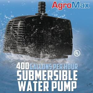 400 GPH SUBMERSIBLE WATER PUMP GALLONS PER HOUR HYDROPONICS xtreme cap fountain - BRAND NEW - FREE SHIPPING