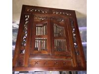 INDONESIAN STYLED MIRROR WITH DOORS