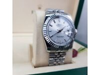 Rolex DateJust, all silver. Complete with Box & paperwork. £140. Collection or post available.