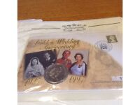 First day cover sets with 5 pound coin