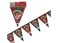 20ft 10 Flags Elf Banner Christmas Bunting Decoration