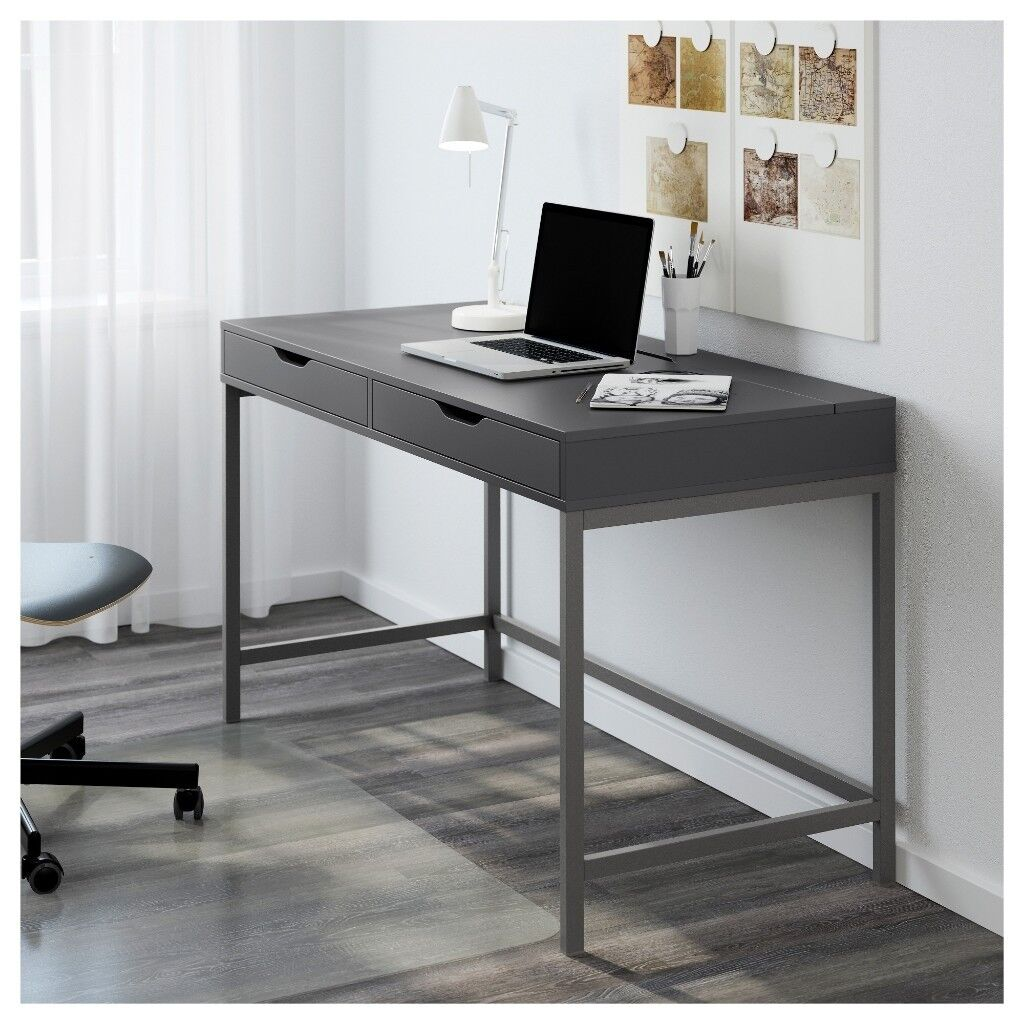 Ikea Alex Office Study Computer Desk Table Rrp 125 Cable Management As New