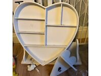 Free for collection heart shaped shelving unit