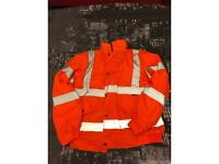 Hi vis work orange jacket