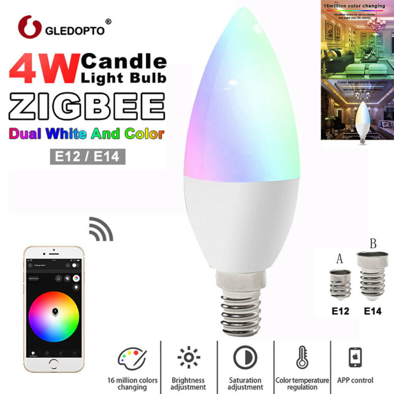 Gldopto RGB Home LED Lamp Smart Blubs Light Compatible with