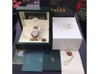 New Mens bagged two tone Bracelet white dial automatic sweeping Rolex daytona watch9