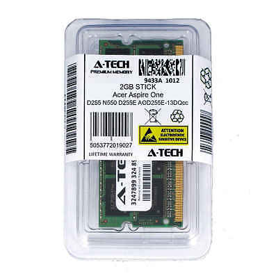 - 2GB SODIMM Acer Aspire One D255 N550 D255E AO-13DQcc PC3-8500 Ram Memory