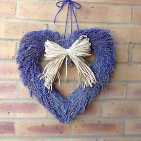 Heart shaped hanging decoration.