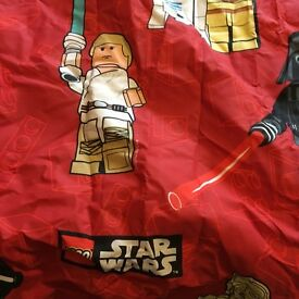Stars wars single duvet cover and pillow case and curtains