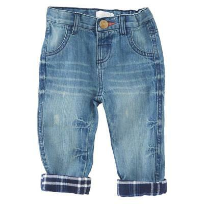 Mud Pie Red Navy Flannel Lined Jeans Boys Pants Christmas Holiday Best