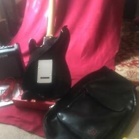 Electric Guitar and Amp , with soft case