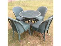 Lloyd loom table and chairs