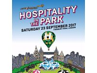 1 x Hospitality in the Park ticket