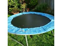 large 2.5m garden trampoline for kids can deliver