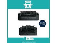 🔴WaWa New🔵2 Seater £169 3 Dylan £195 3+2 £295 Corner Sofa £295-Crushed Velvet Jumbo Cord Brand🌈