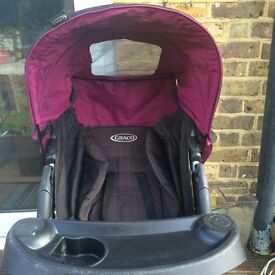Graco girl's pink pram/push chair/ stroller from 6 months onwards
