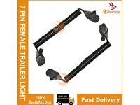 2 x NEW 7 PIN 1.5M FEMALE TRAILER EXTENSION CABLE CONNECTOR LIGHT BOARD TRAILOR