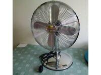brand new retro metal oscillating desk fan 30cm