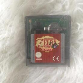 Zelda seasons game for Gameboy colour