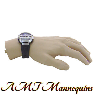 1 Male Spray Painted Mannequin Hand Life Size Mans Left Hand To Display Watch