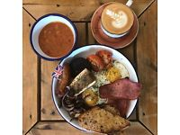 Sous Chef wanted for an award-winning cafe serving full English breakfasts, tasty brunch and lunch