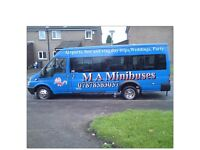 MINIBUS HIRE WITH DRIVER MINIBUSES MINICOACH HIRE MINIBUS PRIVATE HIRE RAWTENSTALL BACUP HASLINGDEN